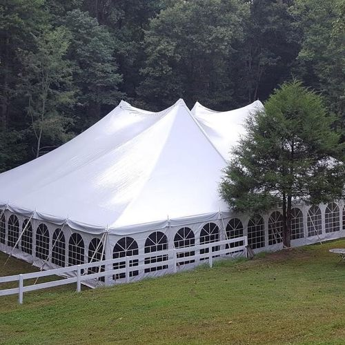 pole tent with window sides