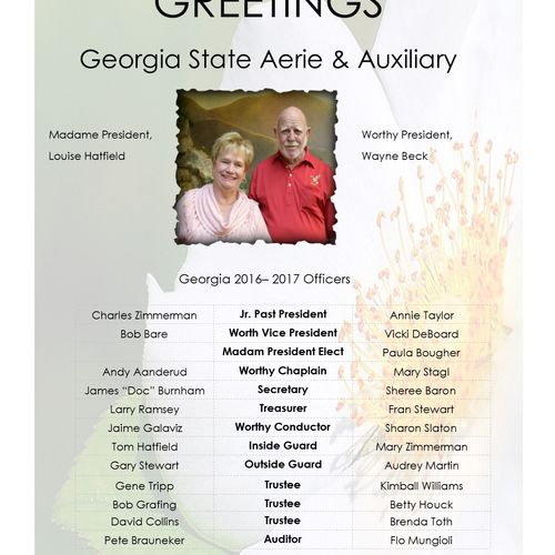 Grand Convention National Program ad Fraternal Order of Eagles 2017  State