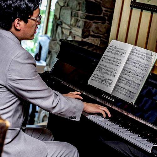 Playing at a wedding
