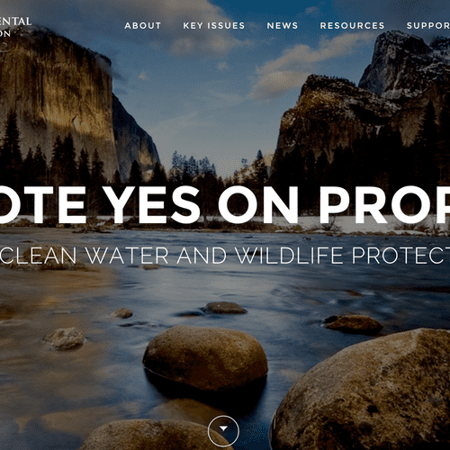 New website for Vote Yes on Prop 1 campaign.