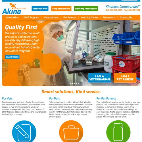 Website Development, SEO, SEM Campaign for Akina Animal Health (akinaanimalhealth.com)