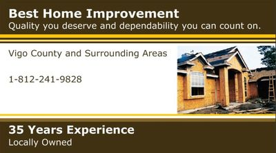 Homeowner's Best Home Improvement Terre Haute, IN Thumbtack