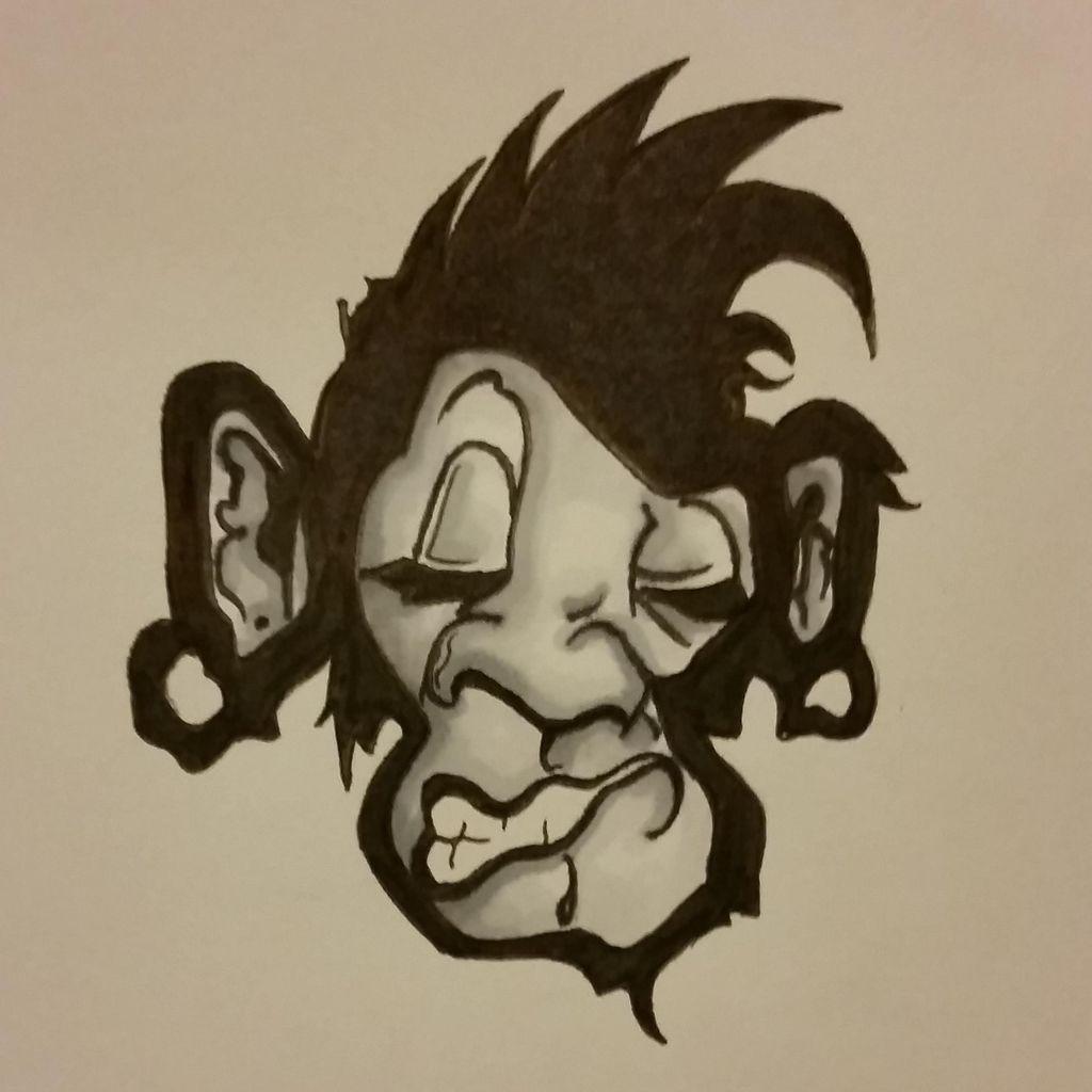 monkey face tattoos