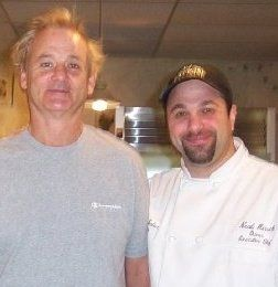 Feeding Bill Murray while he was on location filming