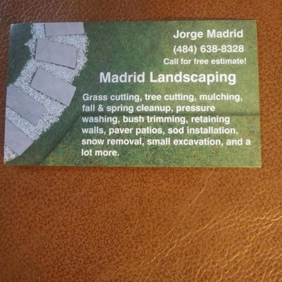 Avatar for Madrid Landscaping Reading, PA Thumbtack