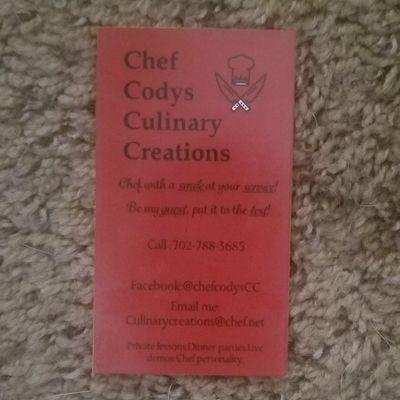Avatar for Codys Culinary Creations LL csr Eugene, OR Thumbtack