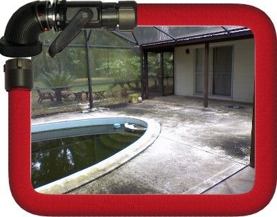 Before Pool Area was Cleaned
