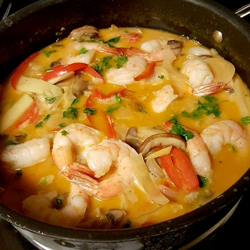 Caribbean Thai Red Curry with Shrimp