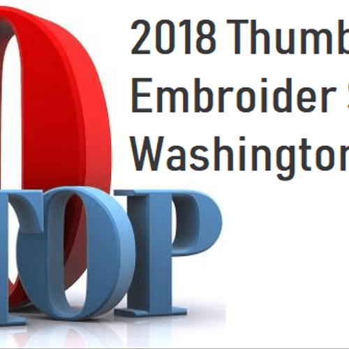 We're proud to be recognized as DC's top 10 Embroiders