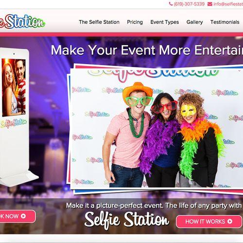 SelfieStationEvents.com Custom-made web design.