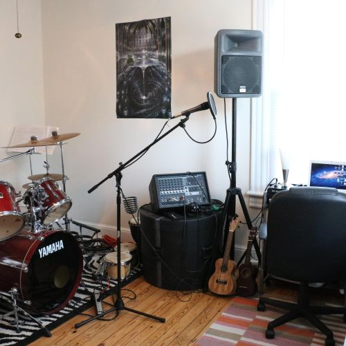 Another view of the home studio.