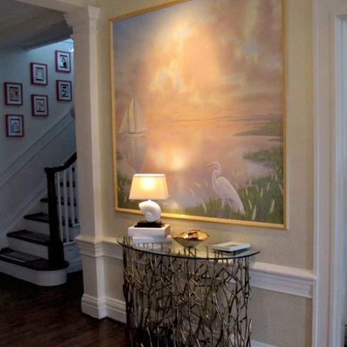Baltimore Symphony Show House. I designed the room and painted 4 Chesapeake themed murals for it.