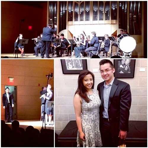 Me and a friend after my composition recital at UNLV