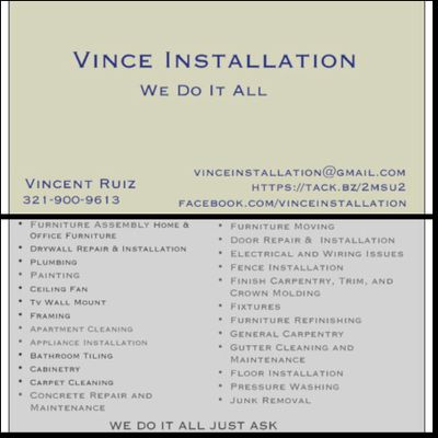 Avatar for Vince Installation Port Orange, FL Thumbtack