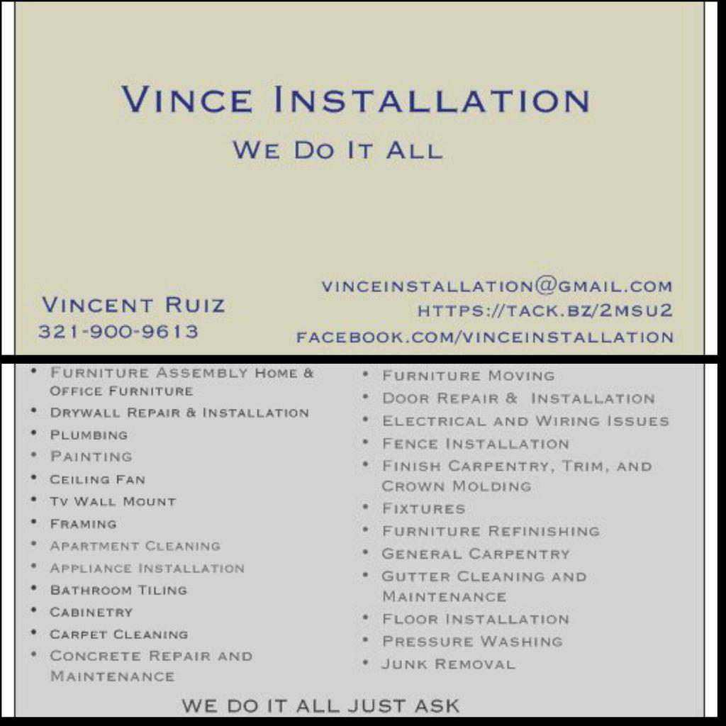 Vince Installation
