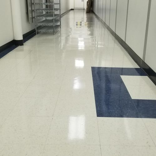 after floor buffing