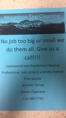 Avatar for Mountain Top Cleaning Service Confluence, PA Thumbtack