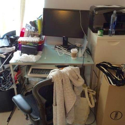 Before we unpacked this office