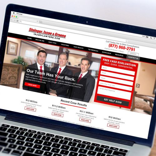 Responsive website for Steinger, Iscoe & Greene, InjuryLawyers.com