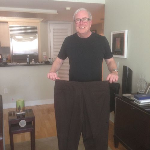 From size 44 to 36! If you continually work at something you will achieve the desired results