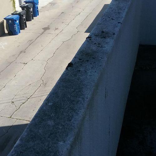 Before:  A dirty railing