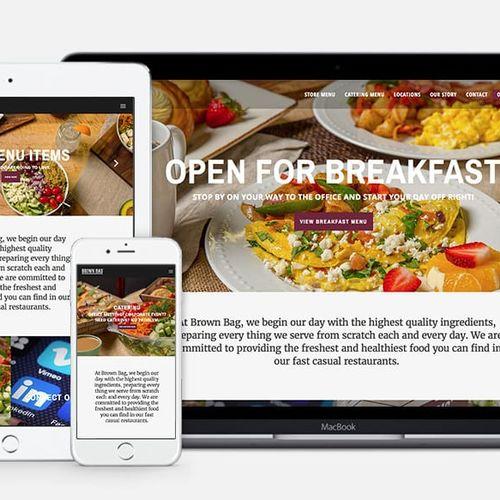 Responsive web design and development for brownbagonline.com
