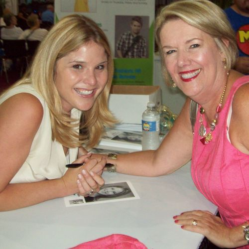 A highlight of my career: I met Jenna Bush Hager; the same day we both spoke at The Southern Women's Show in Charlotte.
