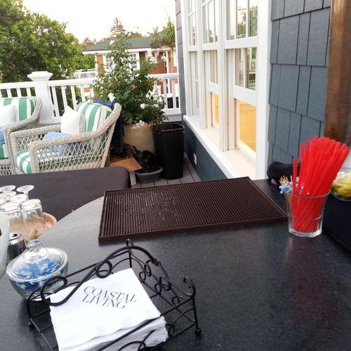 Enjoying the sea breeze with Pret Gourmet at the 2014 Coastal Living Showcase Home in Coronado