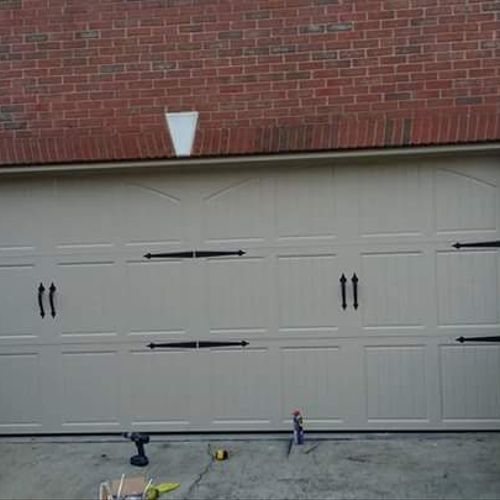 Enhance the look of your door by adding decorative hinges!