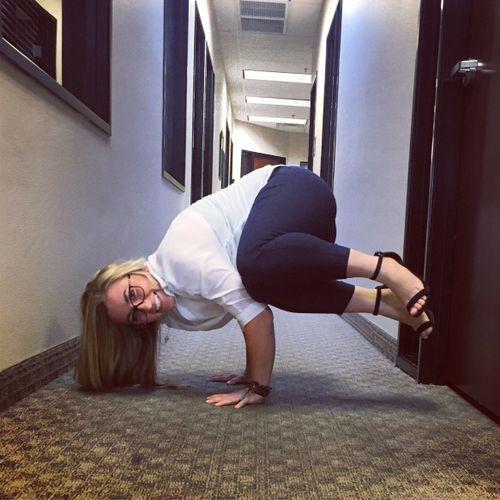 Corporate yoga at American national insurance