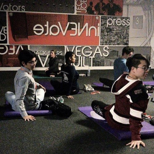 Corporate yoga at the innevation center!