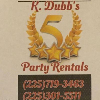 Avatar for K Dubb's 5 Star Party Rentals Baker, LA Thumbtack