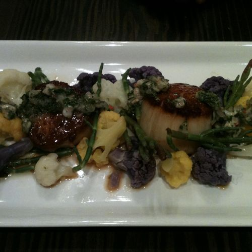 """This dish is called """"tide pool""""  I am a surfer and it reminds me of the Ca. coastal tide pools."""