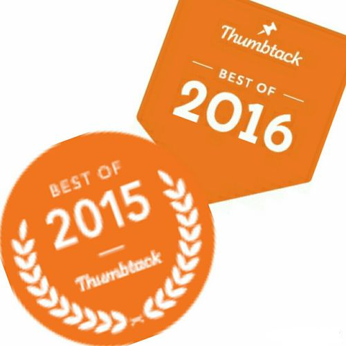 """Awarded Thumbtack's """"Best of 2015 and 2016"""""""
