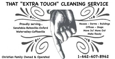 Avatar for That Extra Touch Cleaning Service Water Valley, MS Thumbtack