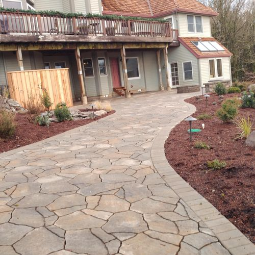 Finished Walk Way & Fire Pit