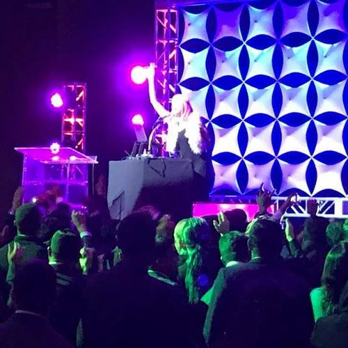 Deejaying at the Sacramento Convention Center