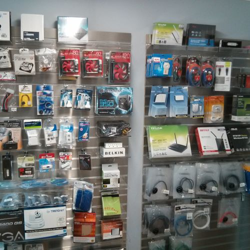 We stock a wide variety of spare parts, cables, and peripherals so you can get back online fast!