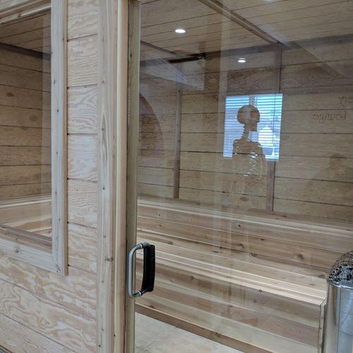 Wellness Center remodel - custom built sauna