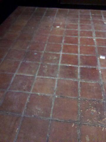 Saltillo floor before repair and seal