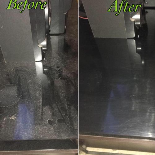 Before & After photo of dust build-up