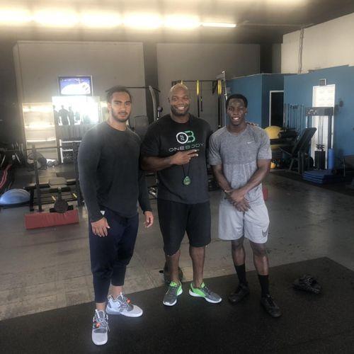 John Ross Jr. Cincinnati Bengals & John Timu  Chicago Bears, Both NFL Players that trained with 1 Body over the summer! Both Long Beach Jordan Alumni