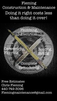 Avatar for Fleming Construction & Maintenance LLC Mentor, OH Thumbtack