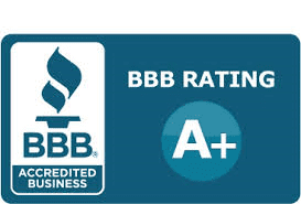 A+ Rating with the BBB for 8 years.