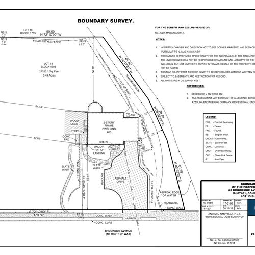 Boundary Location Survey--Typically to obtain construction Permit or for Home purchase.