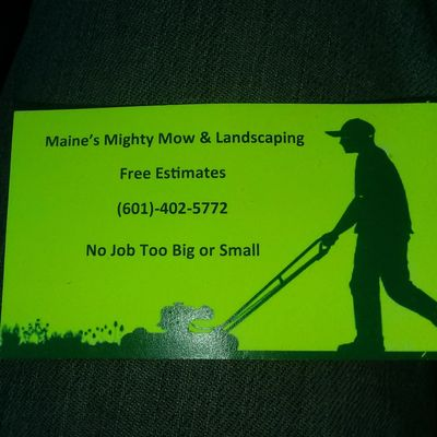Avatar for Maine's Mighty Mow Landscaping Hattiesburg, MS Thumbtack