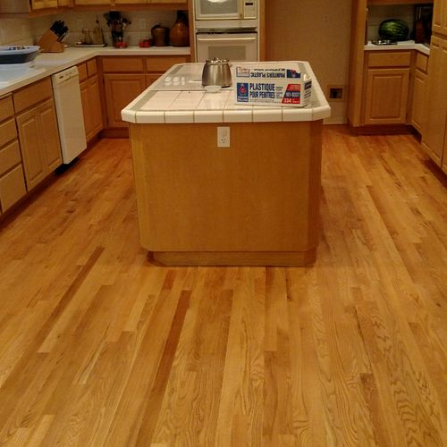 After sand and Refinish Red Oak