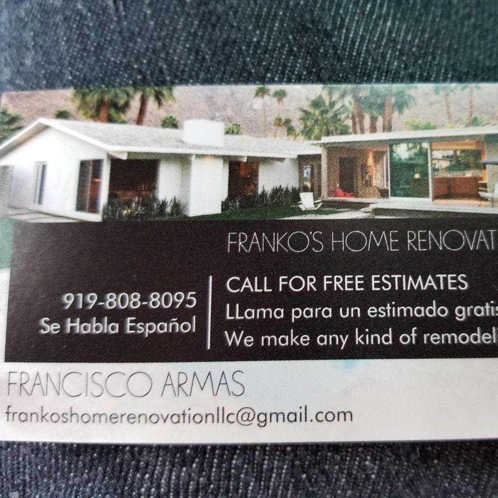 Frankos home renovation