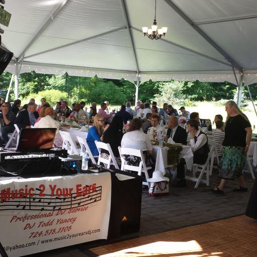 Wedding ceremony and reception at Stonebridge Farm Nursery in Ambridge, PA