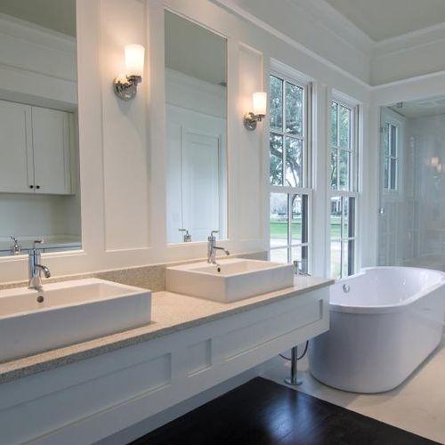 Very white bathroom